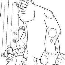 henry waternoose coloring pages hellokids