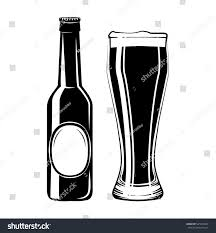 alcohol vector beer bottle glass alcohol drink vintage stock vector 525413347