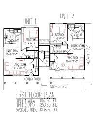triplex plans 2700 sq ft 3 unit 2 floors 3 bedroom handicap accessible