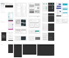 google material design ui floating action buttons set sketch
