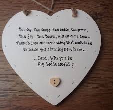 will you be my bridesmaid poem shabby personalised chic will you be my bridesmaid heart gift