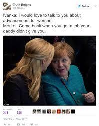 German Memes - photos of ivanka trump and german chancellor angela merkel widely
