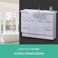 semi recessed bathroom vanity ceramic basin sink storage cabinet