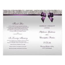 purple wedding programs purple wedding programs flyers leaflets zazzle co uk