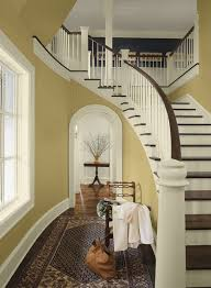 pottery barn yellow paint colors combination for hallways