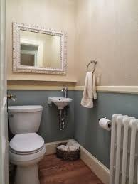 manly row house refuge s powder room updated in above chair rail
