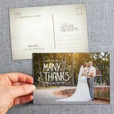 wedding thank you postcards wedding thank you picture postcards best 25 wedding thank you