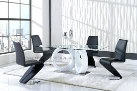 contemporary dining table and chairs modern dinette sets extendable wooden top and leather chairs modern