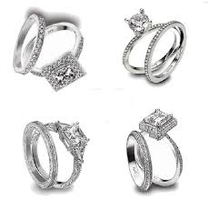 set ring dual set ring models platinum and white gold engagement and