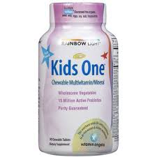 rainbow light kids one rainbow light multivitamin and minerals one kids 4x30 tablets