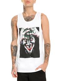 spirit halloween batman shirt dc comics batman the killing joke the joker tank top topic