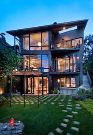 Slanted Roof House Inside House Exterior Contemporary With Nana Doors Nana Doors