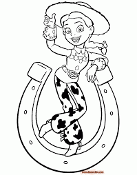 coloring pages pretty jessie coloring page toy story printable
