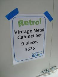 Antique Metal Cabinets For The Kitchen by Midwestern Midcentury Habitat Restore Features Vintage Metal