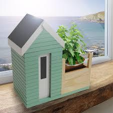 amazon com bunkerbound beach hut planter gift set patio lawn