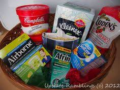 what to put in a sick care package a get well basket for my sick medicine candy drink soup