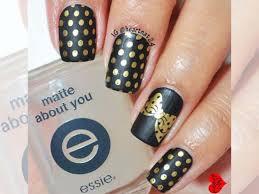 35 perfect black and gold nail art designs