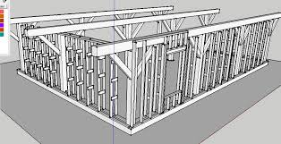 timber frame design using google sketchup download framing for clay slip chip walls straw bale house forum at permies
