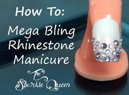 rhinestone nail design ideas images nail art designs