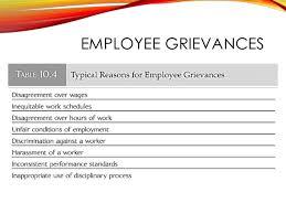 employee discipline and grievance handling