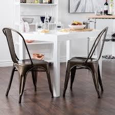 furniture dining chairs metal with salt chair dwr also tolix chair