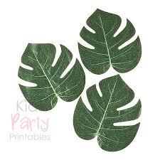 Printable Hawaiian Decorations Palm Leaf Luau Decorations 12 Palm Leaves Hawaiian Party