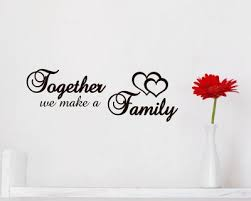 family wall quotes decals vinyl family lettering stickers