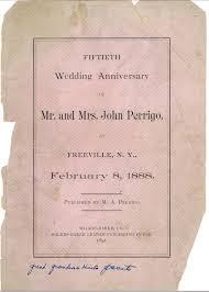 fiftieth anniversary perrigo 50th anniversary 1838 1888 davenport cousins family
