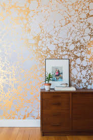 contemporary metallic wallpaper room design ideas
