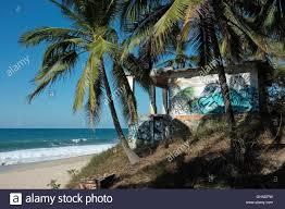 deserted beach house with graffiti sayulita riviera nayarit
