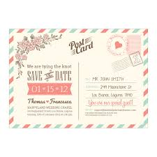 save the date template postcard air mail wedding save the date diy printable template