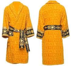 versace baroque u0026 robe bath set black gold bathrobe slippers 3 pc