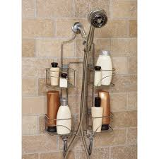 bathroom caddy ideas stainless steel wall shower caddy with four racks completed by