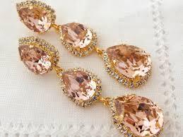Pink Chandelier Earrings Blush Pink Chandelier Earrings Drop Earrings Dangle Earring