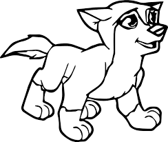 young alpha omega wolf coloring wecoloringpage