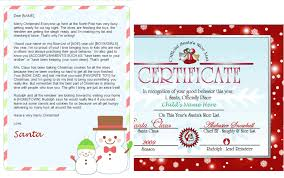 personalized santa letter and nice list certificate snowman