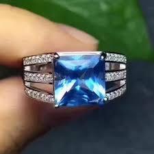 topaz gemstone rings images Fidelity natural blue topaz stone ring s925 sterling silver jpg