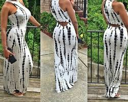 com buy tie dye cut out maxi dress summer celebrity beach party