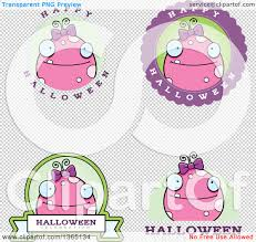 halloween pink background clipart of pink girly halloween monster badges royalty free