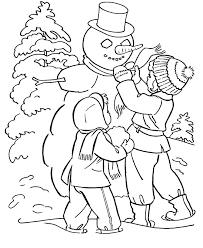 drawn snowman winter season pencil color drawn snowman