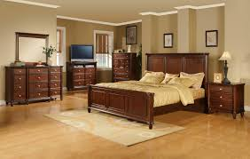 Bedroom Set With Media Chest Elements International Hamilton Queen Transitional Rich Brown