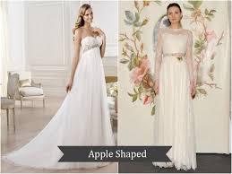dresses for apple shape best wedding dresses for apple shape wedding dresses for apple