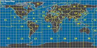 North America Time Zone Map by Amateur Radio Cq Zones Of The World Map