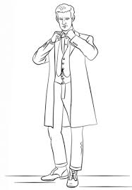 eleventh doctor doctor coloring free printable