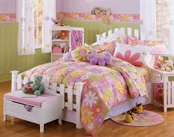 bedroom colorful bedroom with green comfort bed and pink pillows