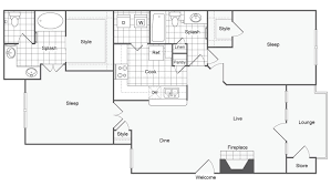 Drawing Floor Plans In Excel 2 Bed 2 Bath Apartment In Dallas Tx Arrive On University