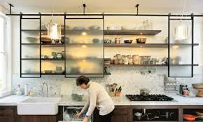 Open Kitchen Storage Small Space Cabinets Open Kitchen Storage Modern Kitchen Shelves