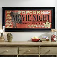 red movie night framed art print movie reels