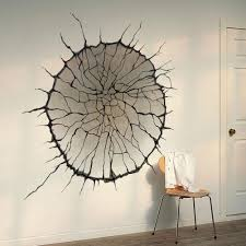 home decor 3d stickers 3d cracked wall art mural decor spider web wallpaper decal poster