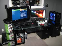 Good Desk For Gaming by Gaming Room Gaming Setup Ideas Game Room Couches Gamers Bedroom